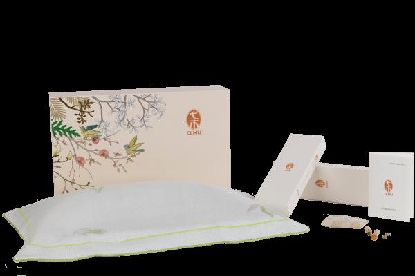 Qimu Seven Wood ergonomisch hoofdkussen